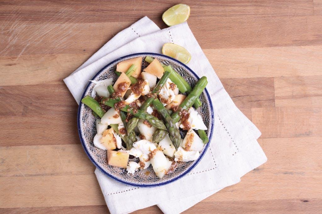 Melonen Spargel Salat