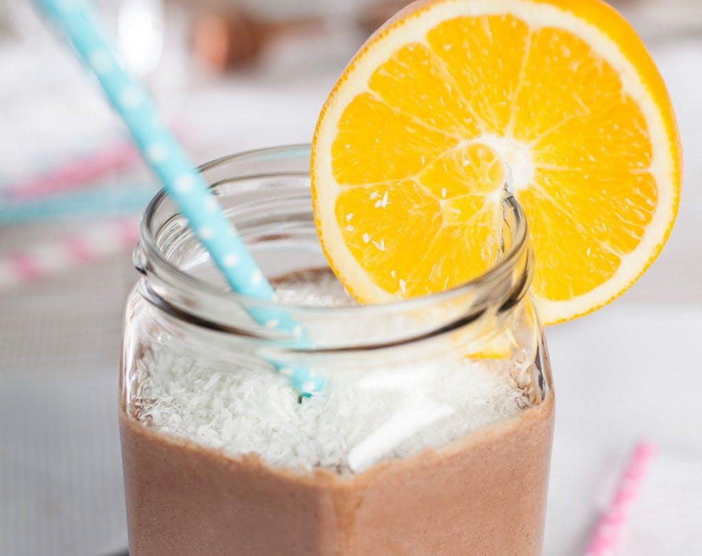 Orangen Schokoladen Smoothie