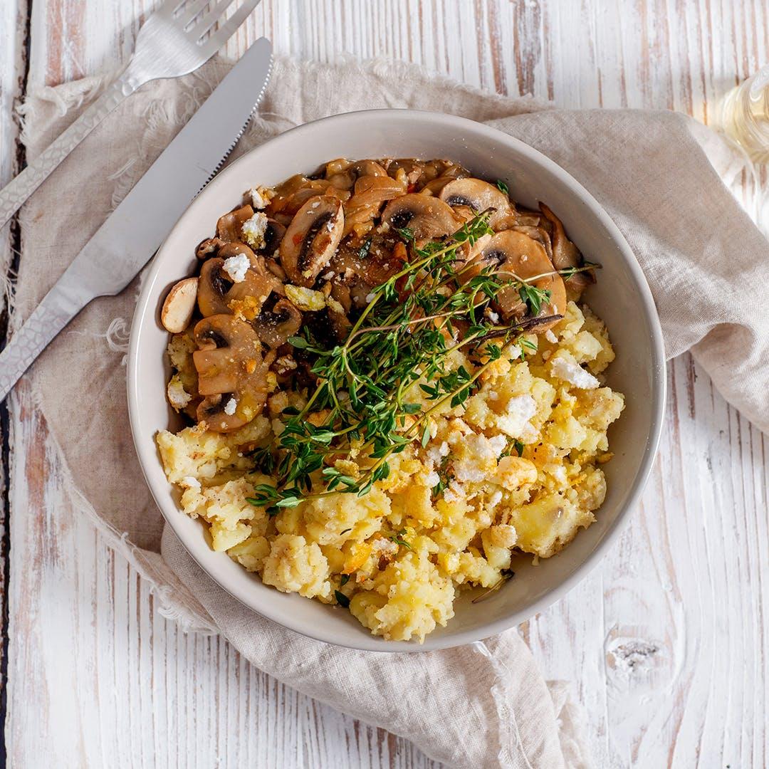 Kartoffelstampf mit Pilzsauce